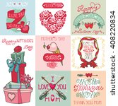 mothers day love romantic cards ... | Shutterstock . vector #408220834