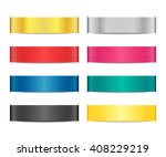 collection of bright ribbon... | Shutterstock .eps vector #408229219