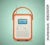 retro radio. old radio....   Shutterstock .eps vector #408236509