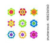 blooming flowers. set of... | Shutterstock .eps vector #408236560