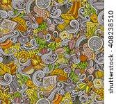 cartoon hand drawn picnic... | Shutterstock .eps vector #408238510
