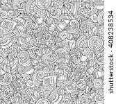cartoon hand drawn picnic... | Shutterstock .eps vector #408238534