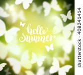 shining summer background with... | Shutterstock .eps vector #408241414