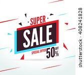 super sale special offer.... | Shutterstock .eps vector #408241828
