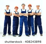 group of professional... | Shutterstock . vector #408243898