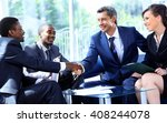 business people shaking hands... | Shutterstock . vector #408244078