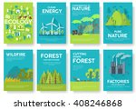 ecology information cards set....