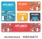 Home Appliances Cards Set....