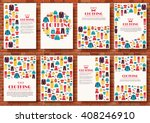 cloth vector shopping icons... | Shutterstock .eps vector #408246910