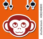 icon of the year of the monkey... | Shutterstock .eps vector #408248800