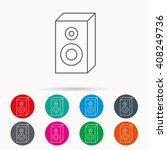 sound icon. musical speaker...   Shutterstock . vector #408249736