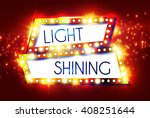 abstract shining frame. retro... | Shutterstock .eps vector #408251644