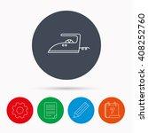 iron icon. ironing housework... | Shutterstock . vector #408252760