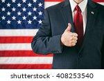 politician  man gives a... | Shutterstock . vector #408253540