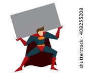 vector stock of superhero with... | Shutterstock .eps vector #408255208