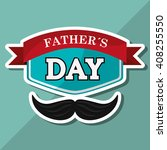 icon of fathers day design  ... | Shutterstock .eps vector #408255550