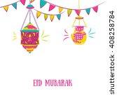 colorful ramadan kareem...   Shutterstock .eps vector #408258784
