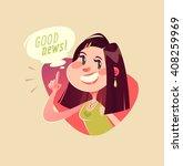 good news  vector illustration. | Shutterstock .eps vector #408259969