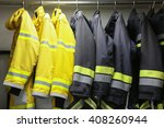 firefighter suit and equipment... | Shutterstock . vector #408260944