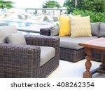 modern rattan sofa | Shutterstock . vector #408262354