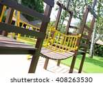 colorful playground at a... | Shutterstock . vector #408263530