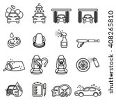 car wash  car care icons set  ... | Shutterstock .eps vector #408265810