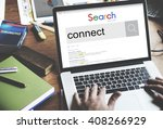 connect join link networking... | Shutterstock . vector #408266929