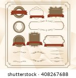 decorative frame set vector  | Shutterstock .eps vector #408267688