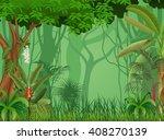 illustration of forest... | Shutterstock . vector #408270139
