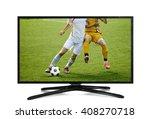 watching smart tv translation... | Shutterstock . vector #408270718