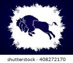 buffalo jumping designed on... | Shutterstock .eps vector #408272170