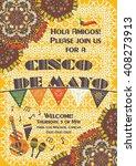 cinco de mayo mexican festive... | Shutterstock .eps vector #408273913