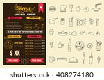 restaurant food menu design... | Shutterstock .eps vector #408274180