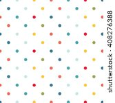 Colorful Polka Dots Background