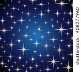 blue abstract background. stars ... | Shutterstock . vector #408277960