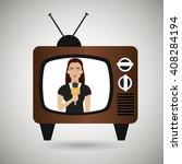 news reporter design  | Shutterstock .eps vector #408284194