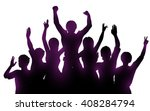 silhouettes of happy people... | Shutterstock .eps vector #408284794