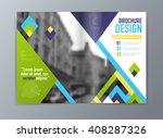 abstract vector brochure flyer... | Shutterstock .eps vector #408287326