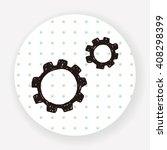 gear doodle   Shutterstock .eps vector #408298399