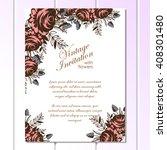 vintage delicate invitation... | Shutterstock .eps vector #408301480