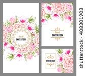 romantic invitation. wedding ... | Shutterstock . vector #408301903