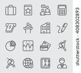 business and finance line icon | Shutterstock .eps vector #408302893