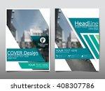 green annual report brochure...   Shutterstock .eps vector #408307786