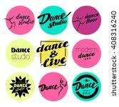 vector flat dance studio logo....   Shutterstock .eps vector #408316240