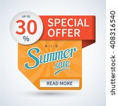 summer sale banner. special... | Shutterstock .eps vector #408316540