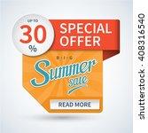 summer sale banner. special... | Shutterstock .eps vector #408316540
