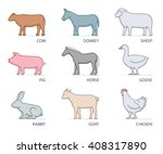 collection of colored farm... | Shutterstock .eps vector #408317890