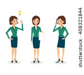business woman character vector ... | Shutterstock .eps vector #408321844