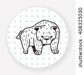 bear doodle | Shutterstock .eps vector #408325030