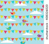 seamless pattern with bunting... | Shutterstock . vector #408326020